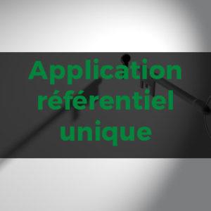 Outil gratuit - Application au Référentiel Unique