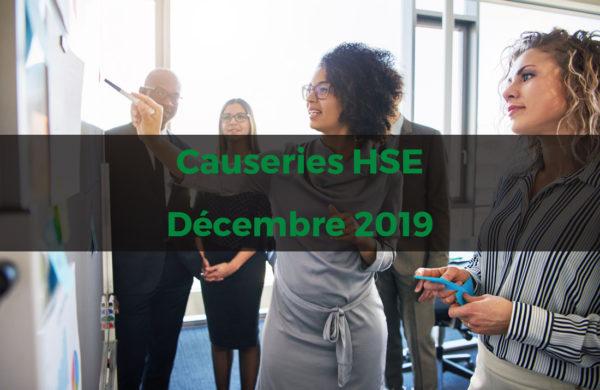 Causeries HSE - décembre 2019 - abonnement mensuel